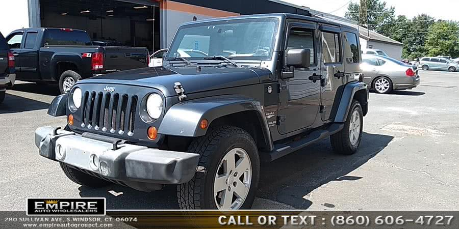 Used Jeep Wrangler 4WD 4dr Unlimited Sahara 2008 | Empire Auto Wholesalers. S.Windsor, Connecticut