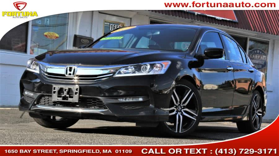 2016 Honda Accord Sedan 4dr I4 CVT Sport, available for sale in Springfield, Massachusetts | Fortuna Auto Sales Inc.. Springfield, Massachusetts
