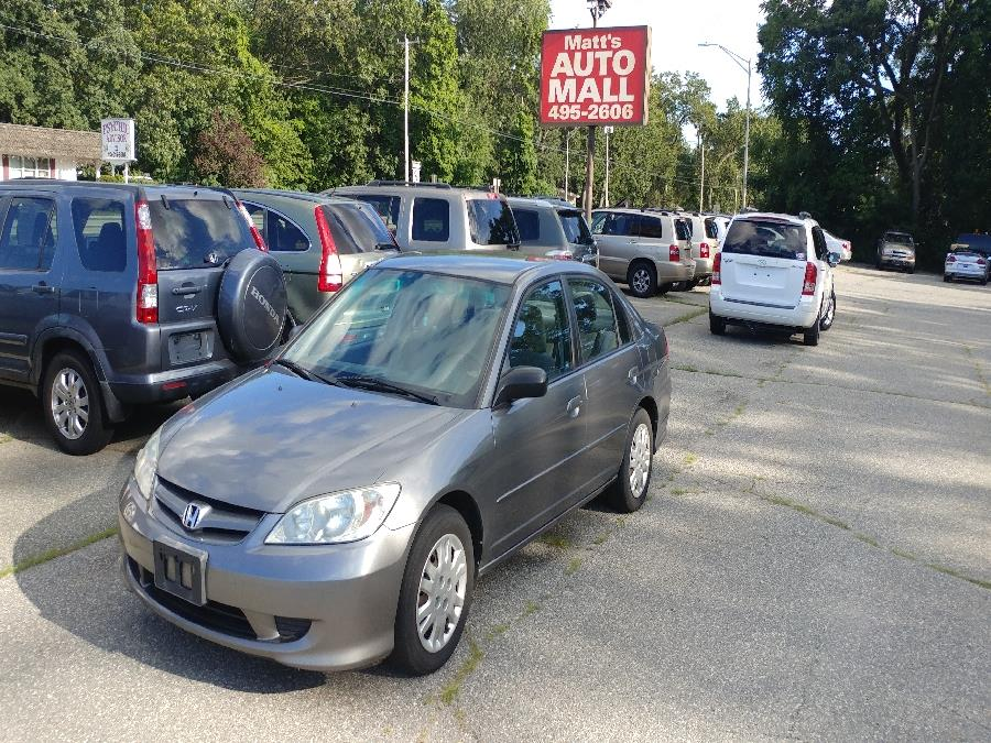 2004 Honda Civic 4dr Sdn LX Auto, available for sale in Chicopee, Massachusetts | Matts Auto Mall LLC. Chicopee, Massachusetts