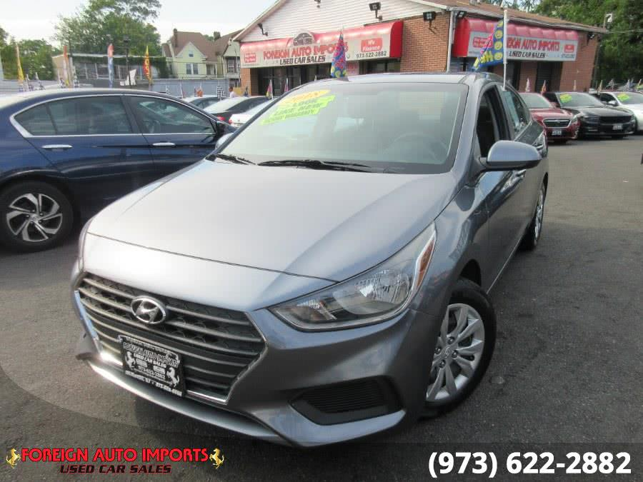 Used Hyundai Accent SE Sedan Auto 2018 | Foreign Auto Imports. Irvington, New Jersey