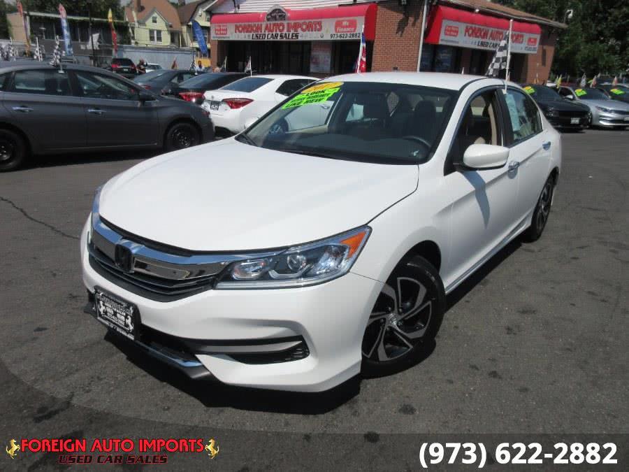 Used Honda Accord Sedan LX CVT 2017 | Foreign Auto Imports. Irvington, New Jersey