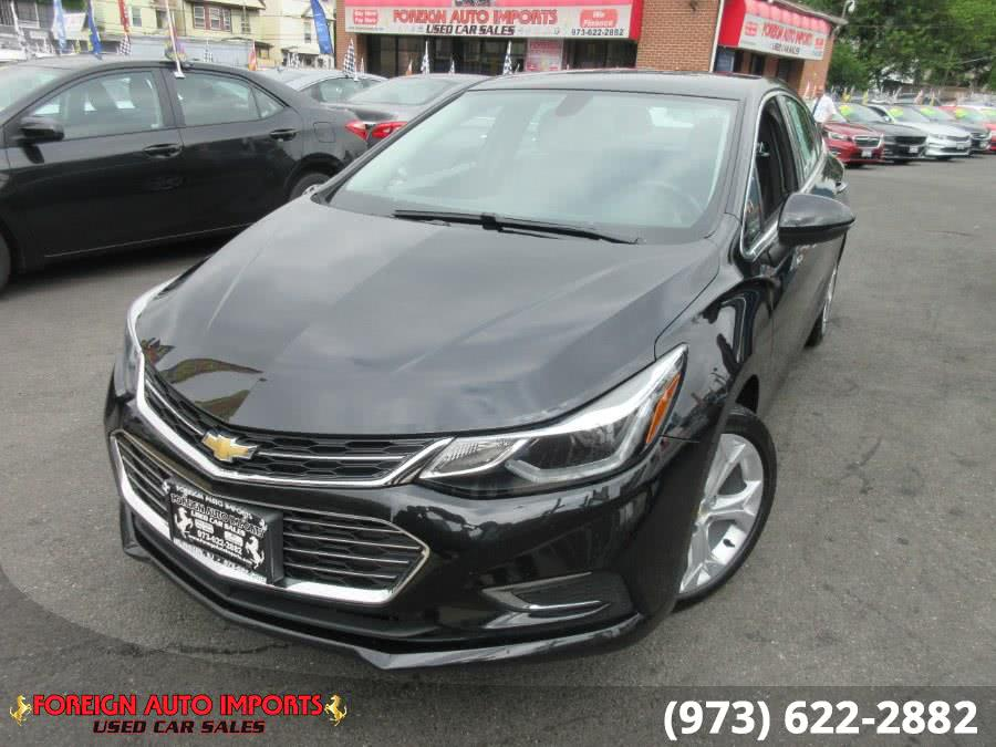 2017 Chevrolet Cruze 4dr Sdn 1.4L Premier w/1SF, available for sale in Irvington, New Jersey | Foreign Auto Imports. Irvington, New Jersey