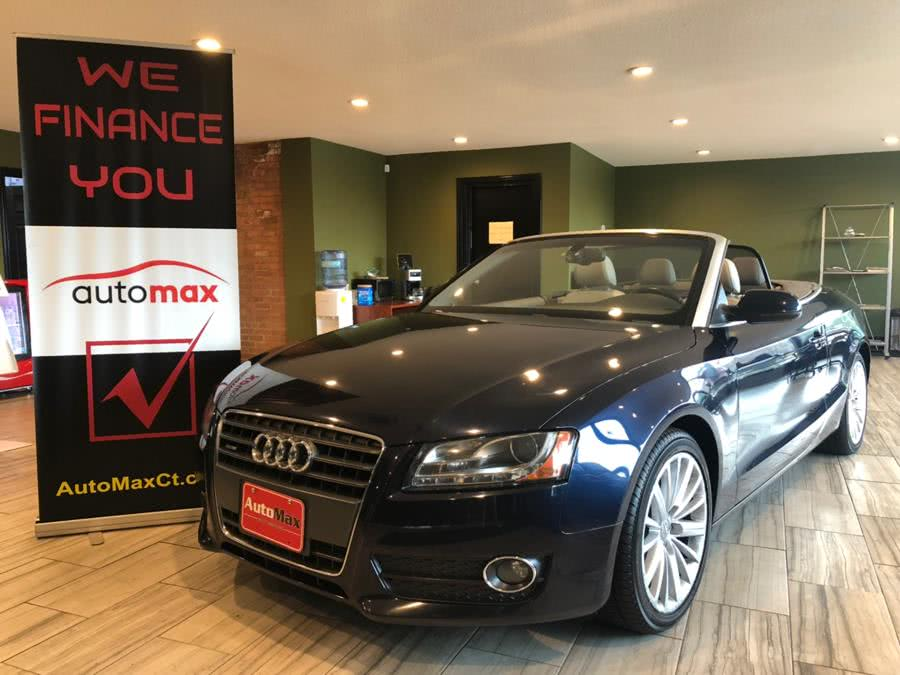 2011 Audi A5 2dr Cabriolet Auto quattro 2.0T Prestige, available for sale in West Hartford, Connecticut   AutoMax. West Hartford, Connecticut
