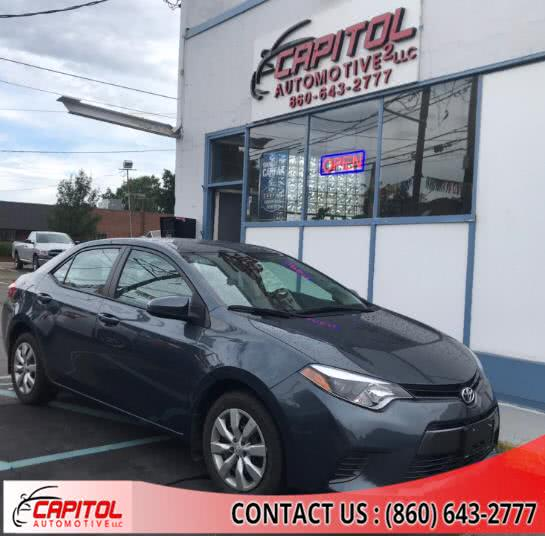 Used Toyota Corolla 4dr Sdn CVT LE (Natl) 2016 | Capitol Automotive 2 LLC. Manchester, Connecticut
