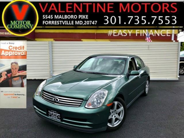 2003 Infiniti G35 Sedan w/Leather, available for sale in Forestville, Maryland | Valentine Motor Company. Forestville, Maryland