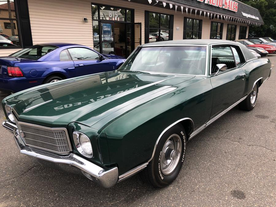 1970 Chevrolet Monte Carlo 2 door coupe, available for sale in Waterbury, Connecticut | Tony's Auto Sales. Waterbury, Connecticut