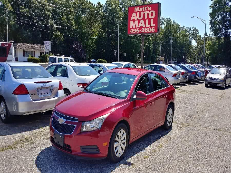 Used 2011 Chevrolet Cruze in Chicopee, Massachusetts | Matts Auto Mall LLC. Chicopee, Massachusetts