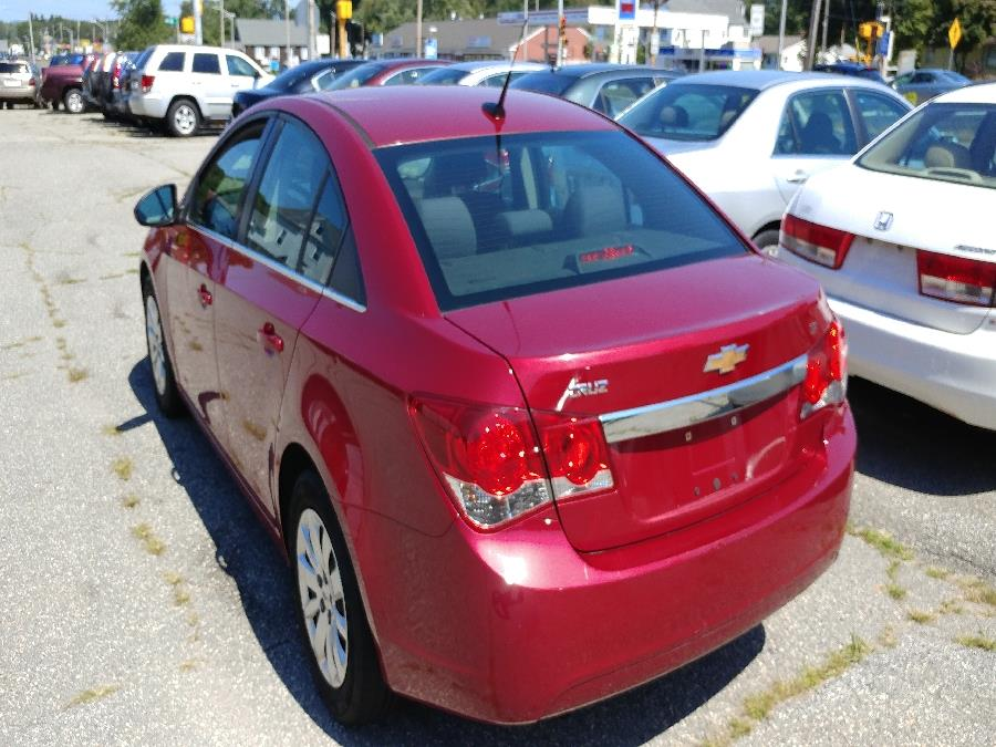 2011 Chevrolet Cruze 4dr Sdn LT w/1LT, available for sale in Chicopee, Massachusetts | Matts Auto Mall LLC. Chicopee, Massachusetts