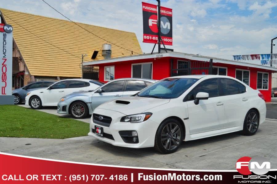 Used Subaru WRX 4dr Sdn Man Limited 2016 | Fusion Motors Inc. Moreno Valley, California