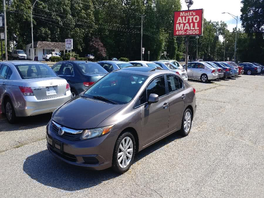 Used 2012 Honda Civic Sdn in Chicopee, Massachusetts | Matts Auto Mall LLC. Chicopee, Massachusetts