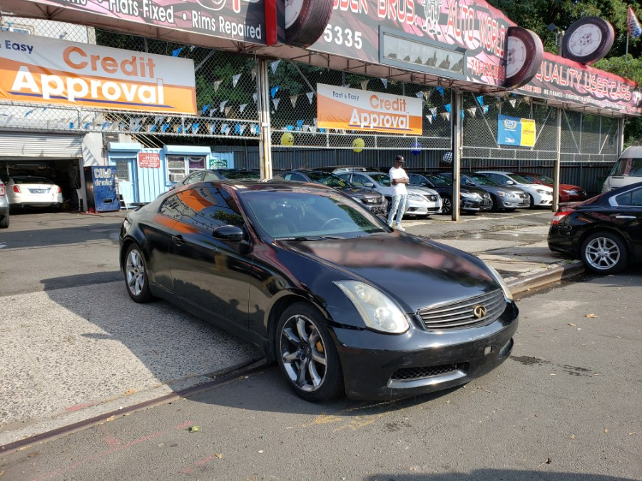 2003 Infiniti G35 Coupe 2dr Cpe Auto w/Leather, available for sale in Brooklyn, New York | Rubber Bros Auto World. Brooklyn, New York