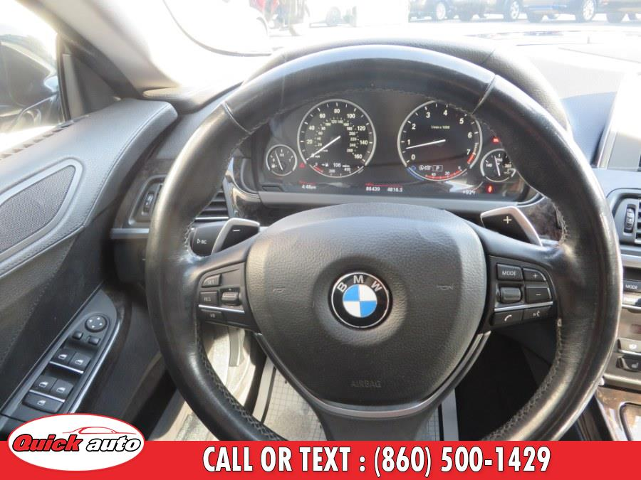 Used BMW 6 Series 4dr Sdn 640i xDrive AWD Gran Coupe 2014 | Quick Auto LLC. Bristol, Connecticut