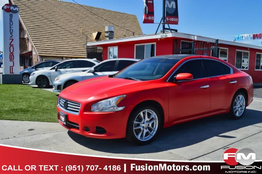Used Nissan Maxima 4dr Sdn 3.5 SV w/Premium Pkg 2014 | Fusion Motors Inc. Moreno Valley, California
