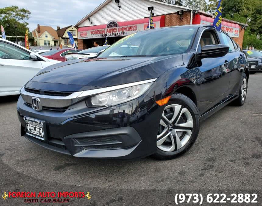 Used 2016 Honda Civic Sedan in Irvington, New Jersey | Foreign Auto Imports. Irvington, New Jersey