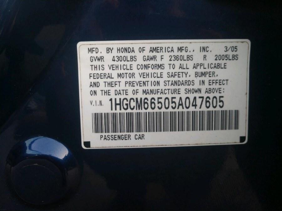2005 Honda Accord Sdn EX-L V6 AT ULEV, available for sale in Auburn, New Hampshire | ODA Auto Precision LLC. Auburn, New Hampshire
