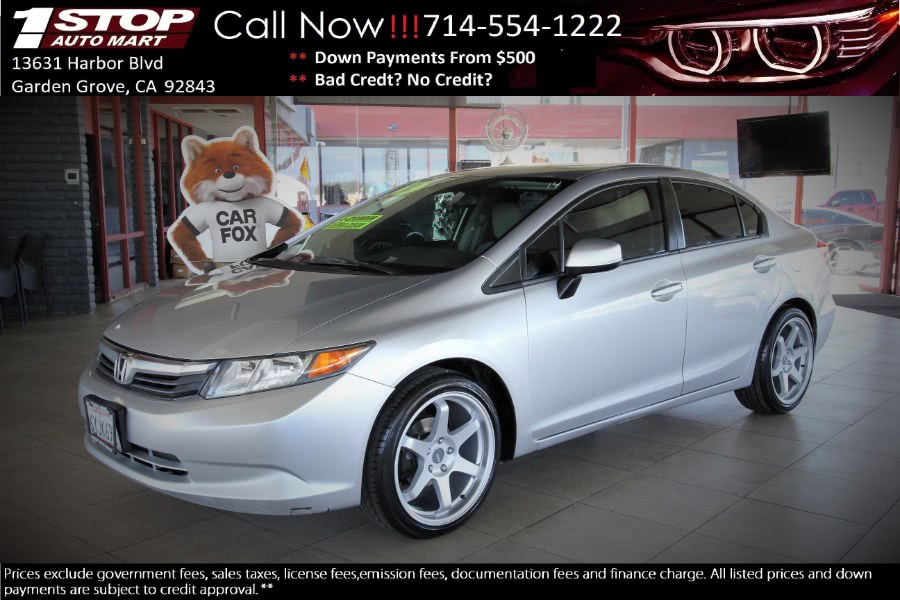 Used 2012 Honda Civic Sdn in Garden Grove, California | 1 Stop Auto Mart Inc.. Garden Grove, California