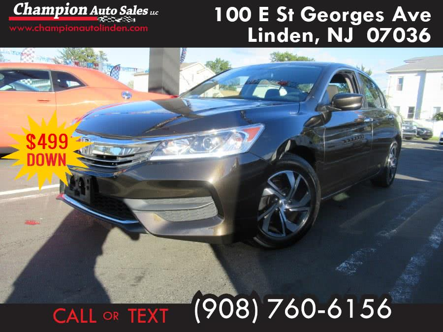 Used 2016 Honda Accord Sedan in Linden, New Jersey | Champion Used Auto Sales. Linden, New Jersey