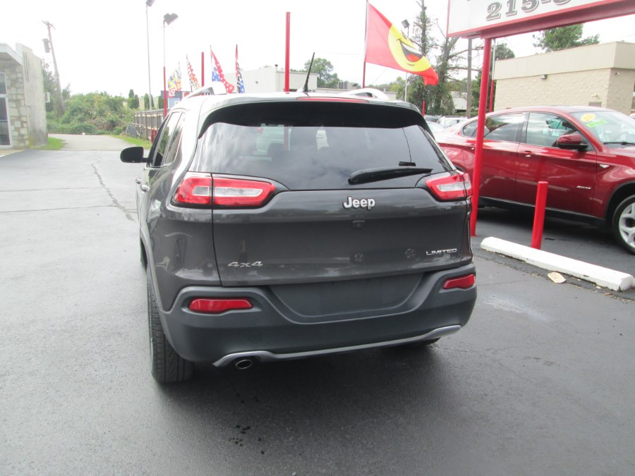 2015 Jeep Cherokee 4WD 4dr Limited, available for sale in Levittown, Pennsylvania | Levittown Auto. Levittown, Pennsylvania