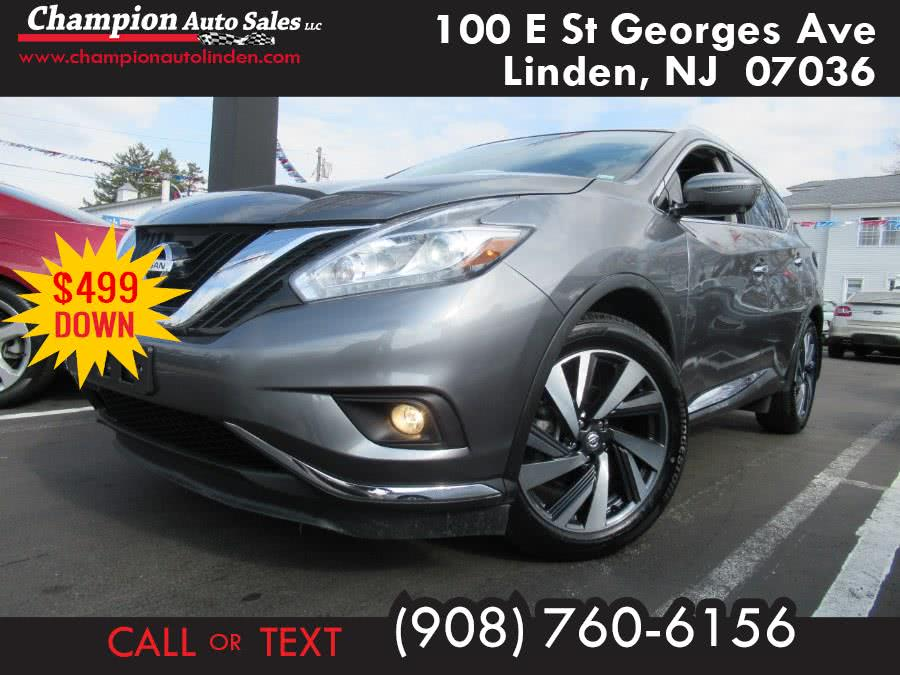 Used 2018 Nissan Murano in Linden, New Jersey | Champion Used Auto Sales. Linden, New Jersey