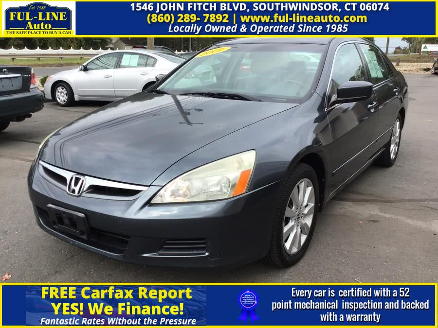 Used 2007 Honda Accord Sdn in South Windsor , Connecticut | Ful-line Auto LLC. South Windsor , Connecticut