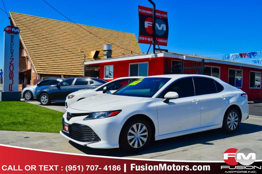Used Toyota Camry L Auto (Natl) 2018 | Fusion Motors Inc. Moreno Valley, California