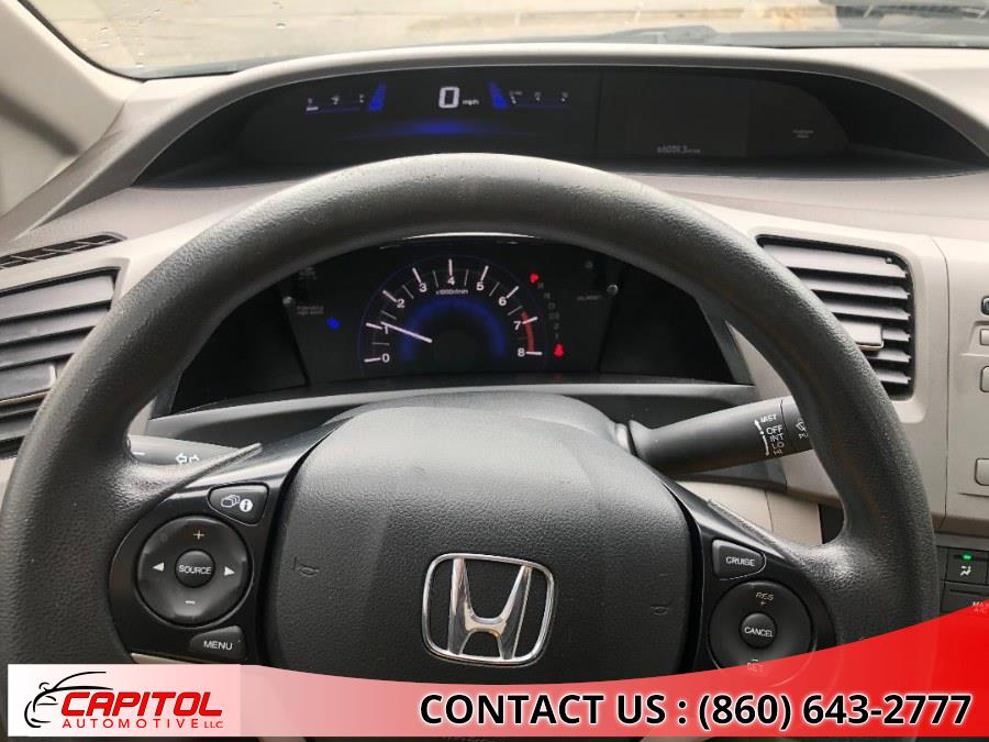 2012 Honda Civic Sdn 4dr Auto LX PZEV, available for sale in Manchester, Connecticut | Capitol Automotive 2 LLC. Manchester, Connecticut