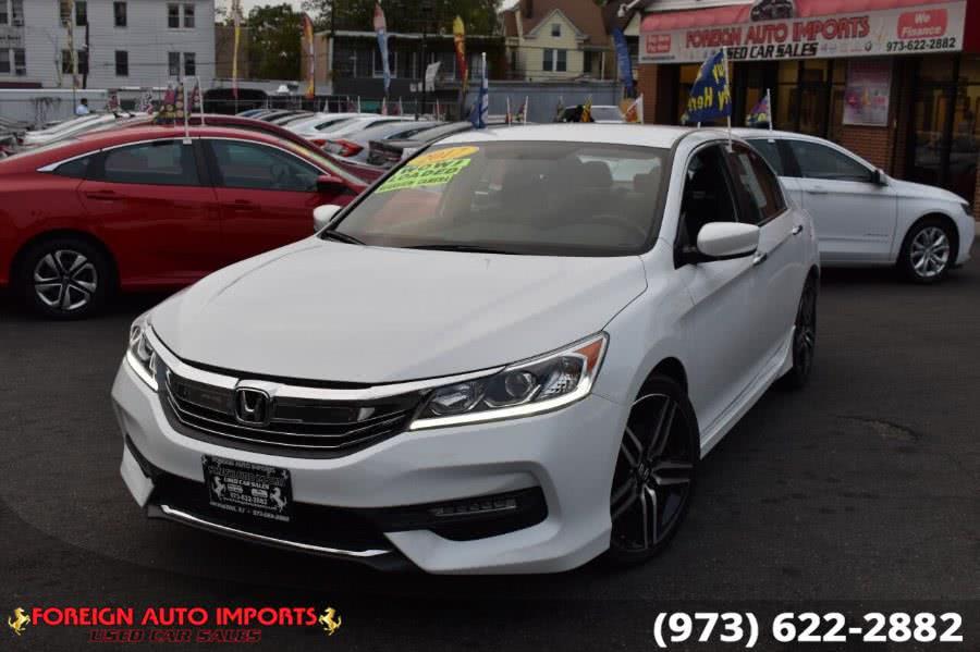 Used Honda Accord Sedan Sport CVT 2017 | Foreign Auto Imports. Irvington, New Jersey
