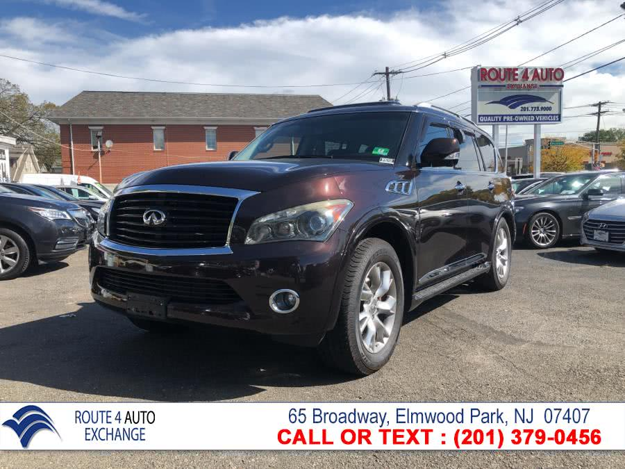 2012 Infiniti QX56 4WD 4dr 7-passenger, available for sale in Elmwood Park, New Jersey | Route 4 Auto Exchange. Elmwood Park, New Jersey
