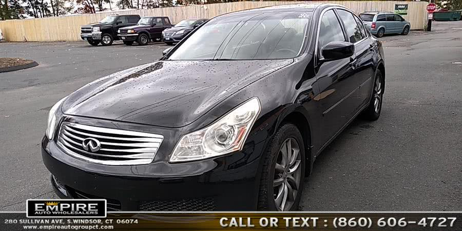 2009 Infiniti G37 Sedan 4dr x AWD, available for sale in S.Windsor, Connecticut | Empire Auto Wholesalers. S.Windsor, Connecticut