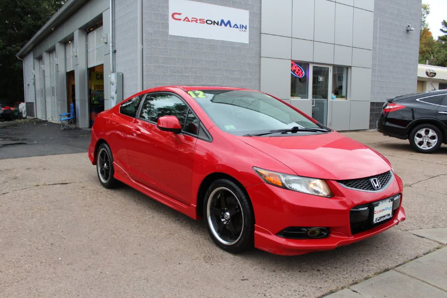 2012 Honda Civic Cpe 2dr Man Si w/Summer Tires, available for sale in Manchester, Connecticut | Carsonmain LLC. Manchester, Connecticut