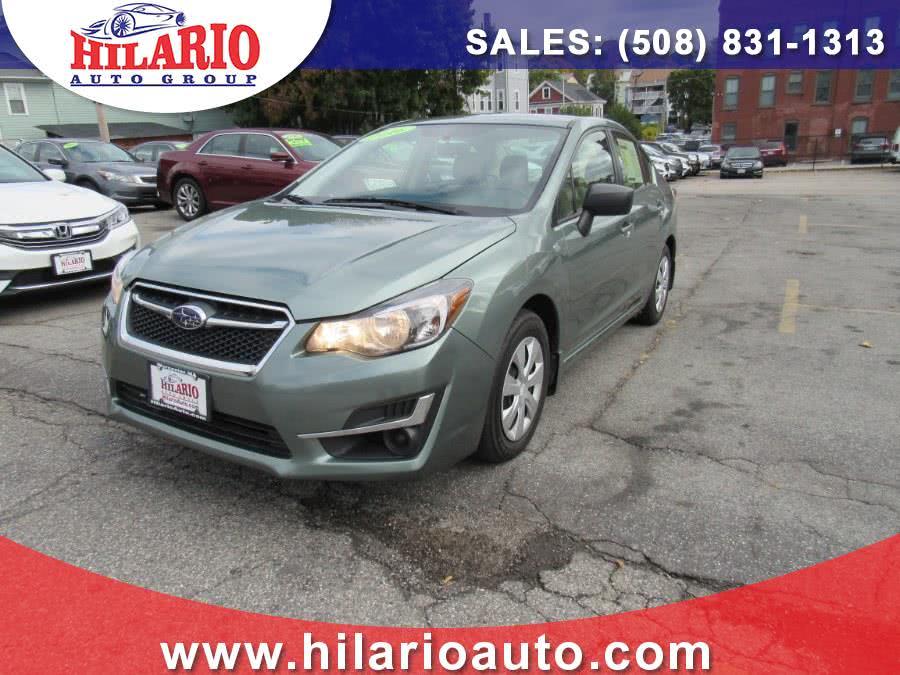Used 2016 Subaru Impreza Sedan in Worcester, Massachusetts   Hilario's Auto Sales Inc.. Worcester, Massachusetts