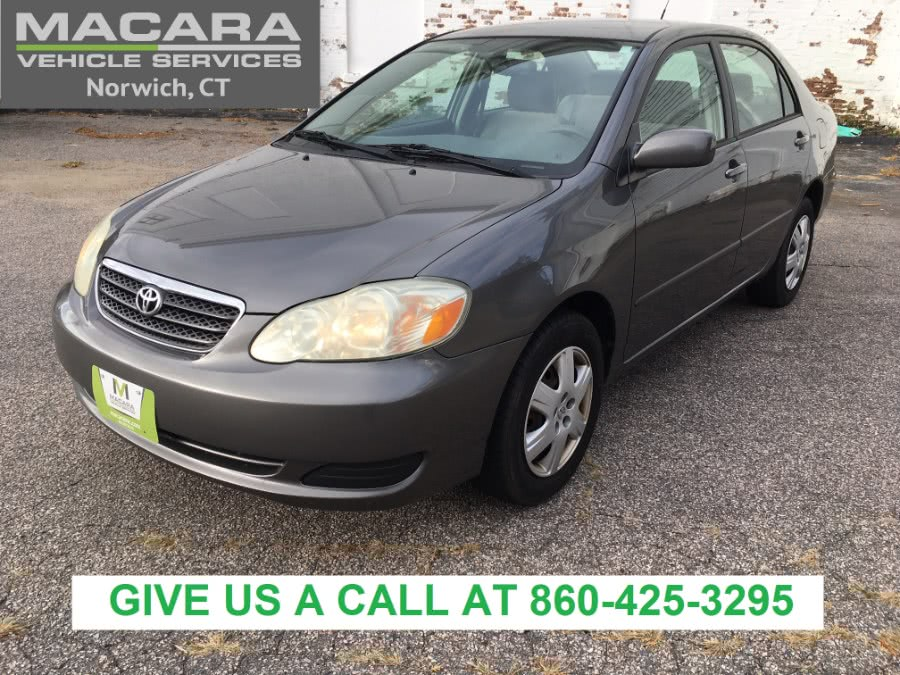 2006 Toyota Corolla 4dr Sdn LE Auto, available for sale in Norwich, Connecticut | MACARA Vehicle Services, Inc. Norwich, Connecticut