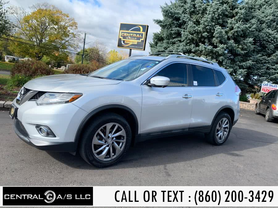 Used Nissan Rogue AWD 4dr SL 2015 | Central A/S LLC. East Windsor, Connecticut