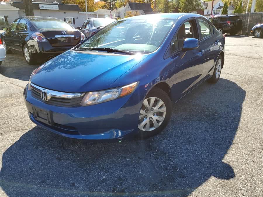 Used 2012 Honda Civic Sdn in Springfield, Massachusetts   Absolute Motors Inc. Springfield, Massachusetts