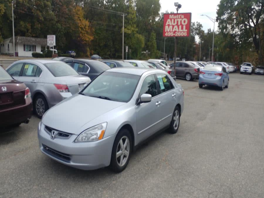 Used 2005 Honda Accord Sdn in Chicopee, Massachusetts | Matts Auto Mall LLC. Chicopee, Massachusetts