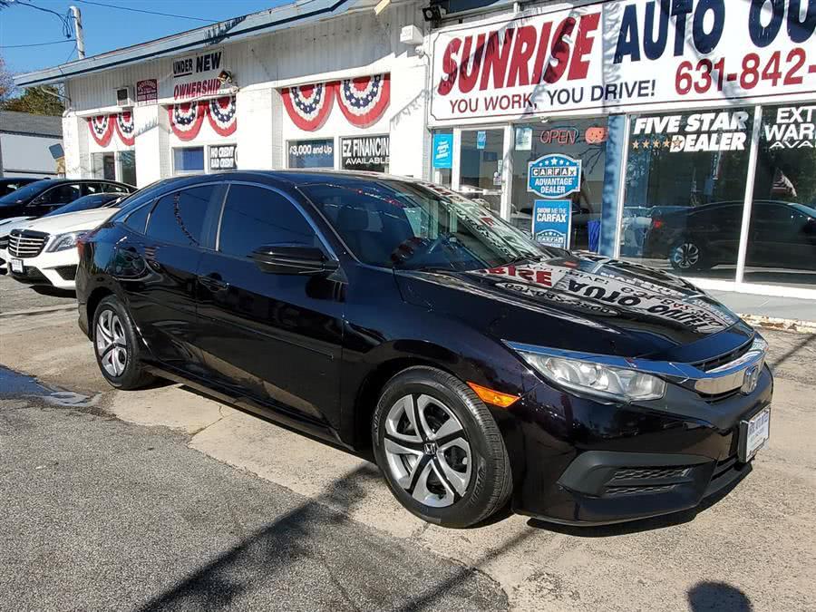 Used 2016 Honda Civic Sedan in Amityville, New York | Sunrise Auto Outlet. Amityville, New York