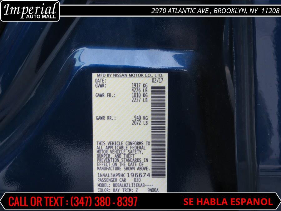 2017 Nissan Altima 2.5 SR Sedan, available for sale in Brooklyn, New York | Imperial Auto Mall. Brooklyn, New York