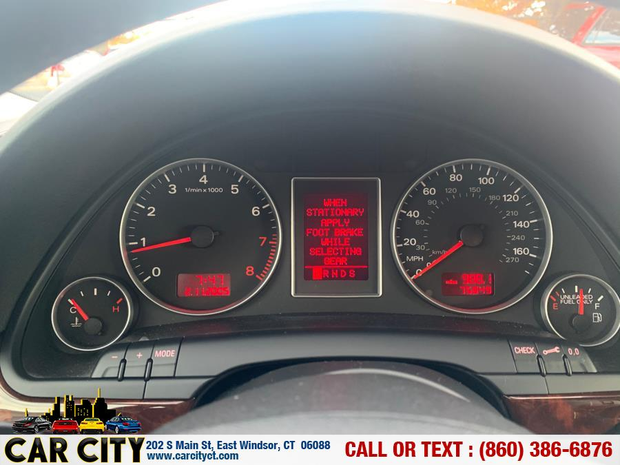2007 Audi A4 2007.5 4dr Sdn Auto 3.2L quattro, available for sale in East Windsor, Connecticut | Car City LLC. East Windsor, Connecticut