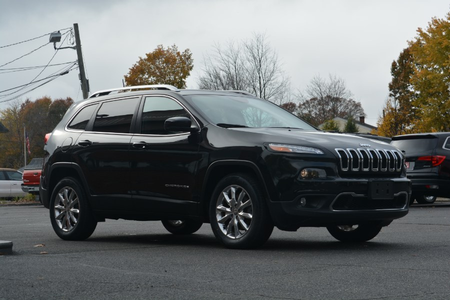 2016 Jeep Cherokee 4WD 4dr Limited, available for sale in ENFIELD, Connecticut | Longmeadow Motor Cars. ENFIELD, Connecticut
