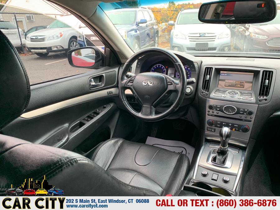 2010 Infiniti G37 Sedan 4dr x AWD, available for sale in East Windsor, Connecticut | Car City LLC. East Windsor, Connecticut