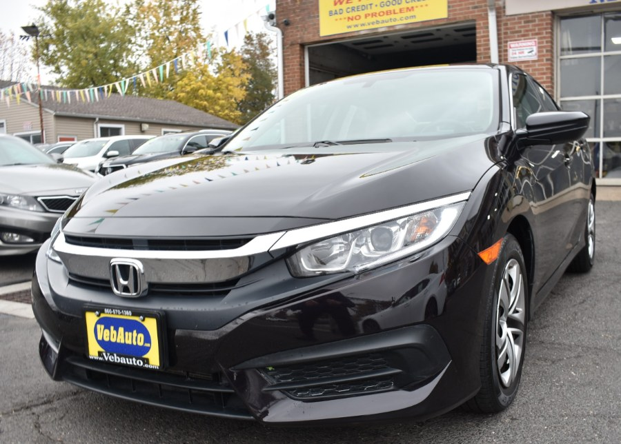 2016 Honda Civic Sedan 4dr CVT LX, available for sale in Hartford, Connecticut | VEB Auto Sales. Hartford, Connecticut