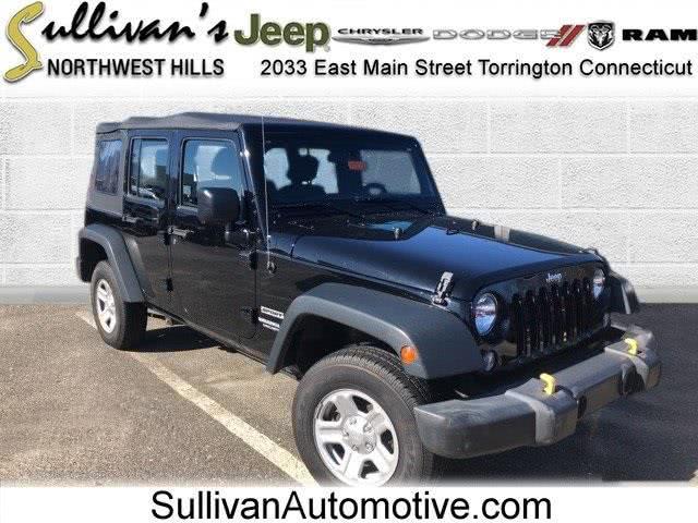 Used Jeep Wrangler Unlimited Sport 2016 | Sullivan Automotive Group. Avon, Connecticut