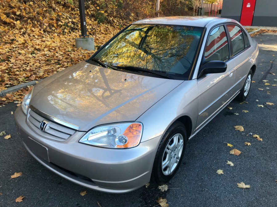2002 Honda Civic 4dr Sdn LX Auto, available for sale in Fitchburg, Massachusetts | A & A Auto Sales. Fitchburg, Massachusetts