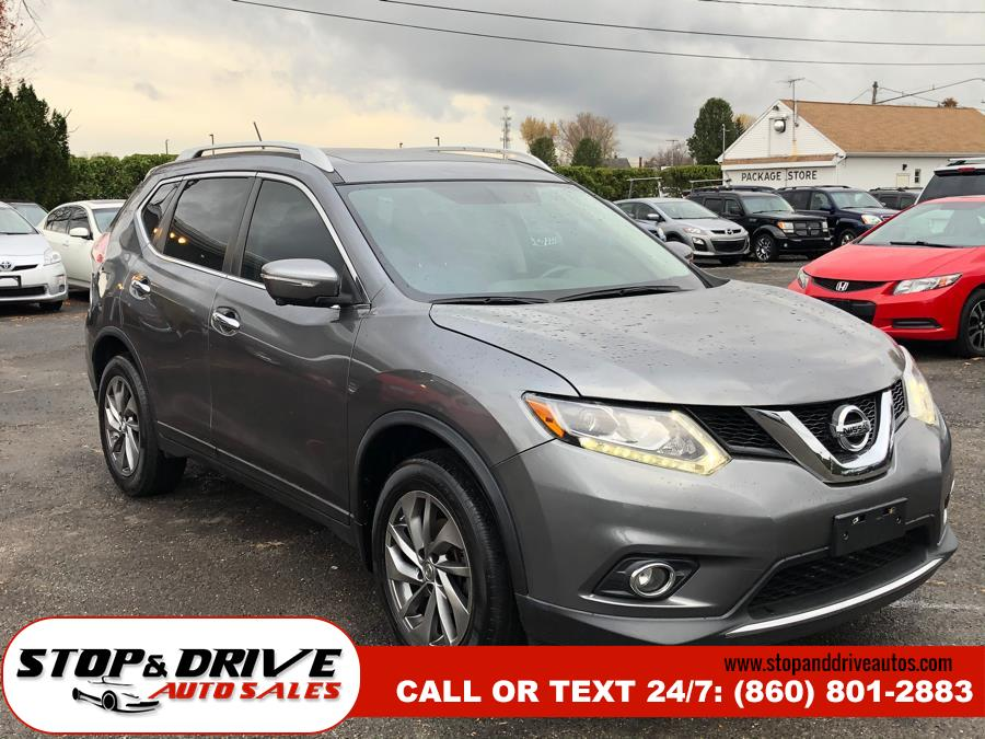 2015 Nissan Rogue AWD 4dr SL, available for sale in East Windsor, Connecticut | Stop & Drive Auto Sales. East Windsor, Connecticut