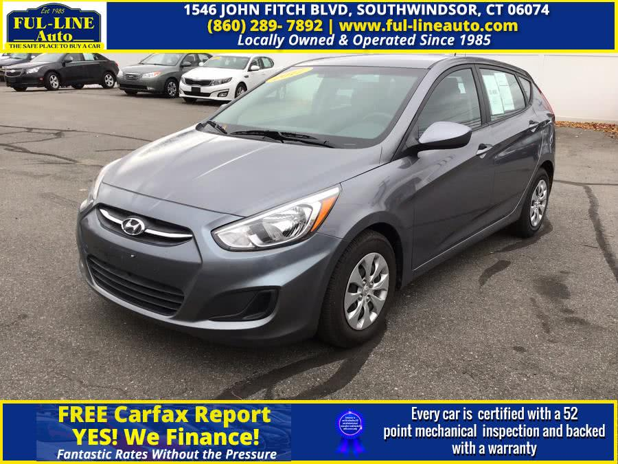 Used Hyundai Accent SE Hatchback Auto 2017 | Ful-line Auto LLC. South Windsor , Connecticut