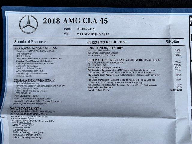 2018 Mercedes-benz Cla AMG CLA 45, available for sale in Cincinnati, Ohio | Luxury Motor Car Company. Cincinnati, Ohio
