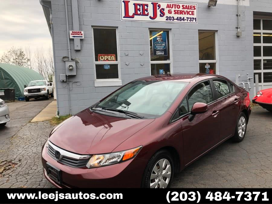 Used Honda Civic Sdn 4dr Auto LX 2012 | LeeJ's Auto Sales & Service. North Branford, Connecticut