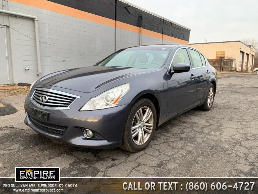 Used 2012 Infiniti G37 Sedan in S.Windsor, Connecticut | Empire Auto Wholesalers. S.Windsor, Connecticut