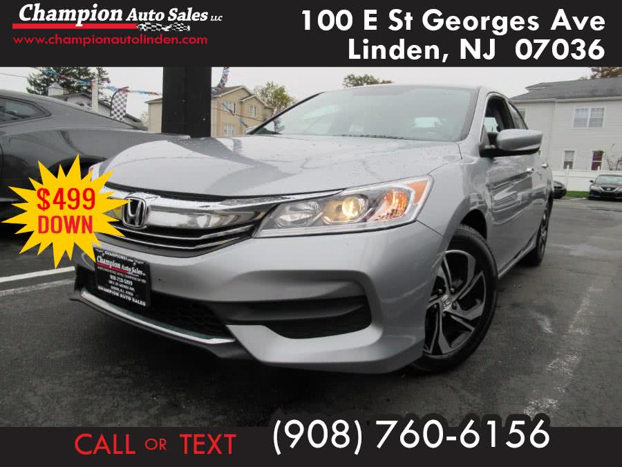 Used 2017 Honda Accord Sedan in Linden, New Jersey | Champion Used Auto Sales. Linden, New Jersey
