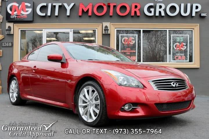 Used Infiniti Q60 Journey 2014 | City Motor Group Inc.. Haskell, New Jersey